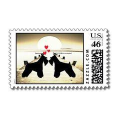 Schnauzer Love Stamps.  Wedding invites? :)