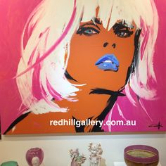 """Painting by Michel Canetti titled """"Tracey"""" 167x137cm available Red Hill Gallery, 61 Musgrave Road Red Hill Qld 4059 Ph +61 7 33681442 art@redhillgallery.com.au"""