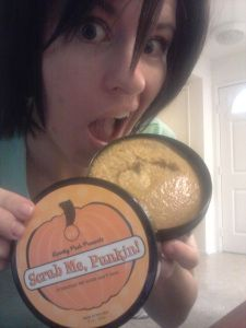 Yep, I want to eat it. You can, but definitely not recommended:) Pumpkin body scrub!!!! #pumpkin #bodyscrub #detox #skinscrub #donteatme #betterthanlush #natural #madeinusa #perfectlyposh
