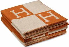 The Equivalent of a Birkin For The Home | the Hermès Avalon blanket | $1,300.00 USD | wool+cashmere | via HouseBeautiful.com