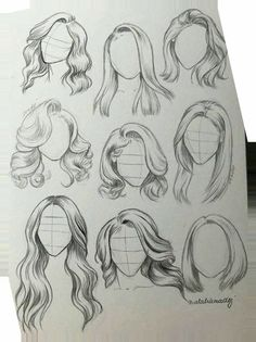 Girl Hair Drawing, Girl Drawing Sketches, Art Drawings Sketches Simple, Pencil Art Drawings, Drawing Tips, Easy Drawings, Tattoo Sketches, Drawing Techniques, Drawings Of Hair