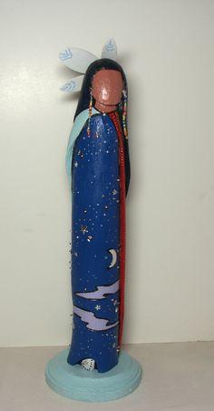 Sky Woman Native American fantasy faceless spirit art doll collectible wood ethnic. $225.00, via Etsy.