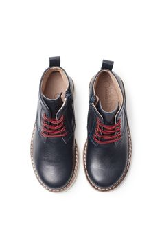 MANGO KIDS - BOYS - Shoes - Contrasted sole leather ankle boots