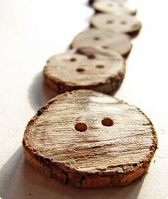 buttons made from twigs