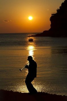 Music and sunset