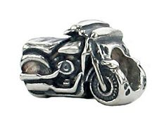 Zable Sterling Silver Motorcycle Bead  Charm * Click image to review more details.