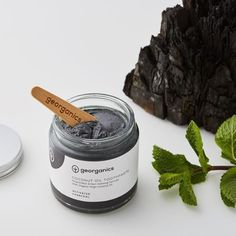 Natural Mineral Rich Toothpaste - Activated Charcoal - Georganics Oral Care - Made in Sussex - British Makers All Natural Toothpaste, Coconut Oil Toothpaste, Activated Charcoal Toothpaste, Foeniculum Vulgare, Natural Charcoal, Heal Cavities, Oil Pulling, Mouthwash, Organic Coconut Oil