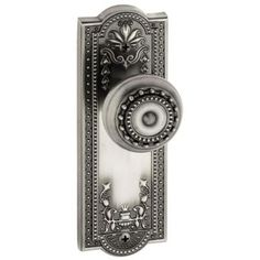 Grandeur Parthenon Antique Pewter Plate with Passage Parthenon Knob-PARPAR-10-AP - The Home Depot
