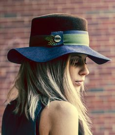 Wide Brim Color Blocked Hat from Picsity.com.  love hats!