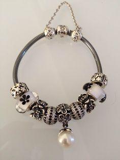 Pandora bracelet oxy noir blanc (black & white) Pandora Bracelet Silver