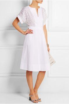 J.CREW Collection + Thomas Mason® embellished cotton-poplin dress