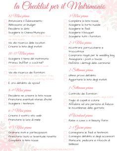Organizzare il matrimonio: la checklist e le cose da fare