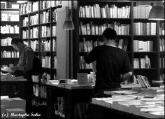 L'écume des pages, a legendary bookstore of Saint Germain des Prés quarter, boulevard Saint Germain, Paris 6
