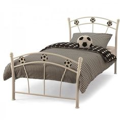 soccer white bed