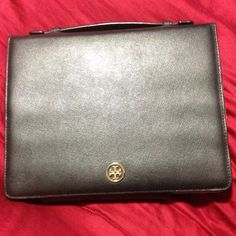 Tory Burch iPad case Black Tory Burch iPad case. Has top handle, very secure snaps. Perfect condition. Tory Burch Bags