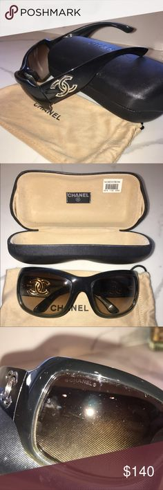 CHANEL Sunglasses CC monogram Authentic Chanel sunglasses with large classic monogram CC on the sides in Brown color but Olive in the light. Great condition, used, comes with original case and dust bag! CHANEL Accessories Sunglasses