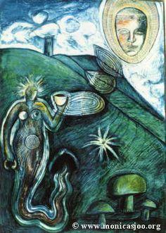 Susun Weed writes about Motherwort (Art by Monica Sjöö)
