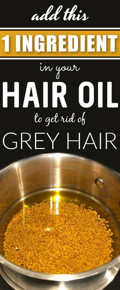 Just add this 1 ingredient in your oil, all grey hair will become black and they will remain black upto 50 years Beauty Tips For Hair, Beauty Hacks, Hair Health, Grey Hair, Hair Oil, Healthy Hair, Whitening, Natural Health, Your Hair