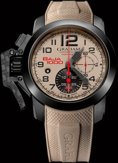 Graham Chronofighter Oversize Superlight Baja 1000 watch Latest Watches, Best Watches For Men, Fine Watches, Sport Watches, Cool Watches, Graham Watch, Limited Edition Watches, Luxury Watches, Bracelet Watch
