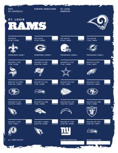 St. Louis Rams 2014 NFL Schedule