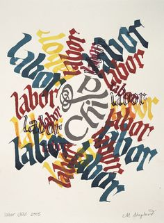 Calligraphy Art by Margaret Shepherd -