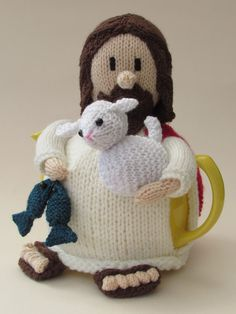 Jesus tea cosy for Easter from TeaCosyFolk http://www.teacosyfolk.co.uk/Jesus-Tea-cosy-p-123.php