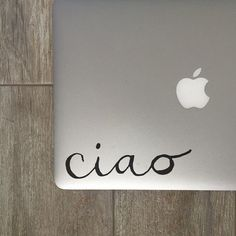 Ciao Vinyl Decal - Ciao - Vinyl Decal - Laptop Decal - Laptop Sticker - Macbook Decal - Macbook Sticker - Italian Decal - Italian