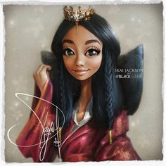 Skai Jackson by Pamonh Sisouk Black Girl Art, Black Women Art, Black Girl Magic, Art Girl, Amazing Drawings, Cute Drawings, Amazing Art, Awesome, Black Cartoon