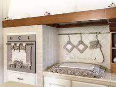 Set Cucina Grigio composto da 3 pezzi, copri forno, copri fornelli e ...