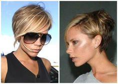 Victoria Beckham keeps this short hairstyle edgy and feminine. Longer hair around the face can add playful femininity.