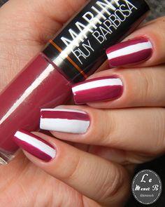 #nail #nails #nailart #naildesing #nailpolish #polish #polishnail #unha #unhas #unhadecorada #maos #manicure #esmalte #vinho #marsala #wine #hits #listras #stripes #decoraçao #desingdeunha #girl #mani #love #fashion