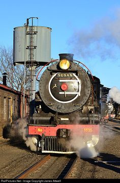 1535 Reefsteamers Association Steam at Germiston, Johannesburg, South Africa by James Attwell Locomotive Engine, Steam Locomotive, South African Railways, Landscape Wallpaper, Steam Engine, Landscape Photography, Food Photography, Nostalgia, Engineering