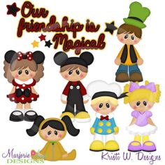 Our Friendship Is Magical SVG Cutting Files Includes Clipart