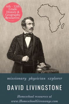 Homeschool Giveaways shares all about David Livingstone. David Livingston was a missionary, physician, explorer, among many other things. Teach your kids all about this man's amazing accomplishments with these resources. Bible Resources, Reading Resources, Teaching Social Studies, Teaching Kids, Best Homeschool Curriculum, Homeschooling, David Livingstone, Victorian Life, African History