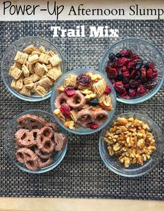 Power-Up Afternoon Slump Trail Mix - Life a Little Brighter Healthy Afternoon Snacks, Quick Healthy Snacks, Savory Snacks, Healthy Treats, Healthy Recipes, Trail Mix Recipes, Snacks For Work, Bright, Just Desserts
