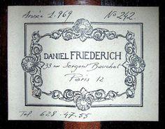Classical Guitars - 1969 Daniel Friederich SP/CSAR - Guitar Salon International