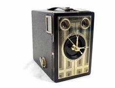 Golden Vintage Brownie Target Six16 Camera by LightAndTimeArt