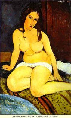 Amedeo Modigliani. Seated Nude.