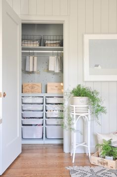 tiny closets can be super useful too! this DIY small closets offers clever storage solutions, great for kids bedroom closet, or craft room storage closet! DIY IKEA trofast storage unit hack. Ikea hacks Small Closet Storage, Tiny Closet, Small Closets, Small Deep Closet, Small Closet Redo, Storage Closets, Open Closets, Dream Closets, Home Office Closet