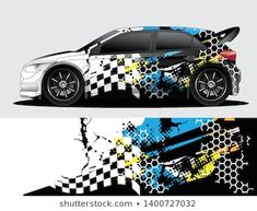 Similar images stock photos & vectors of Rally car decal graphic wrap vector abstract background 1406578505 Car Stickers, Car Decals, Corolla Hatchback, Van Wrap, Graffiti Lettering, Rally Car, Lamborghini Aventador, Abstract Backgrounds, Concept Cars