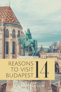 There are loads of things to do in Budapest. You'll never get bored in this awesome city! If you're not convinced yet, then here are 14 reasons to visit Budapest! Europe Travel Guide, Europe Destinations, Travel Info, Us Travel, Travel Guides, Travel Articles, Travel Plan, Visit Budapest, Budapest Travel