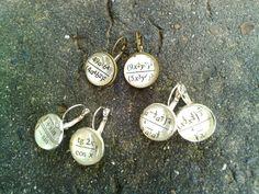 Math earrings bronze earrings silver earrings by AgnesJewelries