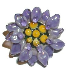 Lampwork Glass Beads Flower Tutorial orchid lily star by glassbead