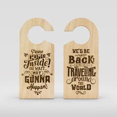 """Door Hanger 05  """"Don't leave us hanging"""" is a project of door hangers that comes from another more ambitious, traveling around the world for a year.  https://www.facebook.com/dontleaveushanging http://www.aroundtheworld.pt"""