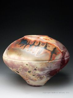 Charlie and Linda Riggs Fossil Pot at MudFire Gallery