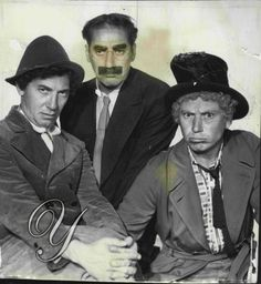 Marx Brothers now 3 of them Chico Groucho and Harpo at MGM for a Night at the opera