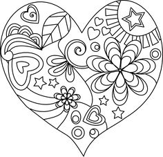 Beyond the Fringe: Free Valentine Digital Stamps Heart Coloring Pages, Colouring Pages, Coloring Books, Valentine Coloring Pages, Heart Doodle, Free Adult Coloring, Doodle Coloring, Quilling Patterns, Doodle Patterns