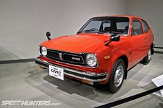 Toyota-Automobile-Museum-Honda Civic CVCC 1975 #Honda #HondaCivic #HondaCars