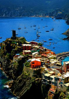 West East South North — Vernazza, Cinque Terre, Italy