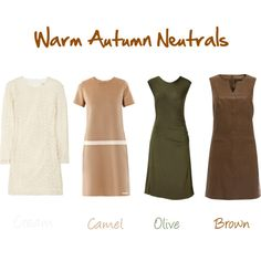 """That Olive dress...i wants.  """"Warm Autumn Neutrals for Spring"""" by jeaninebyers on Polyvore"""